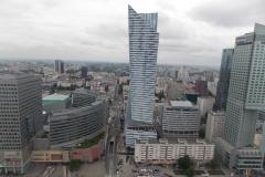 Warszawa z tarasu widokowego