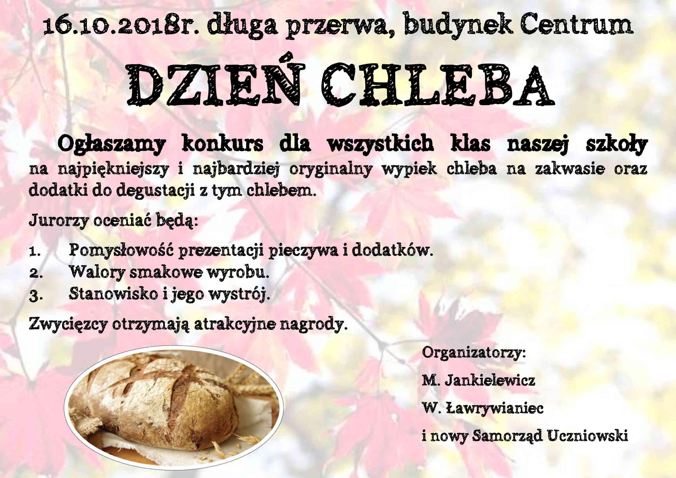 Dzień chleba ogłoszenie